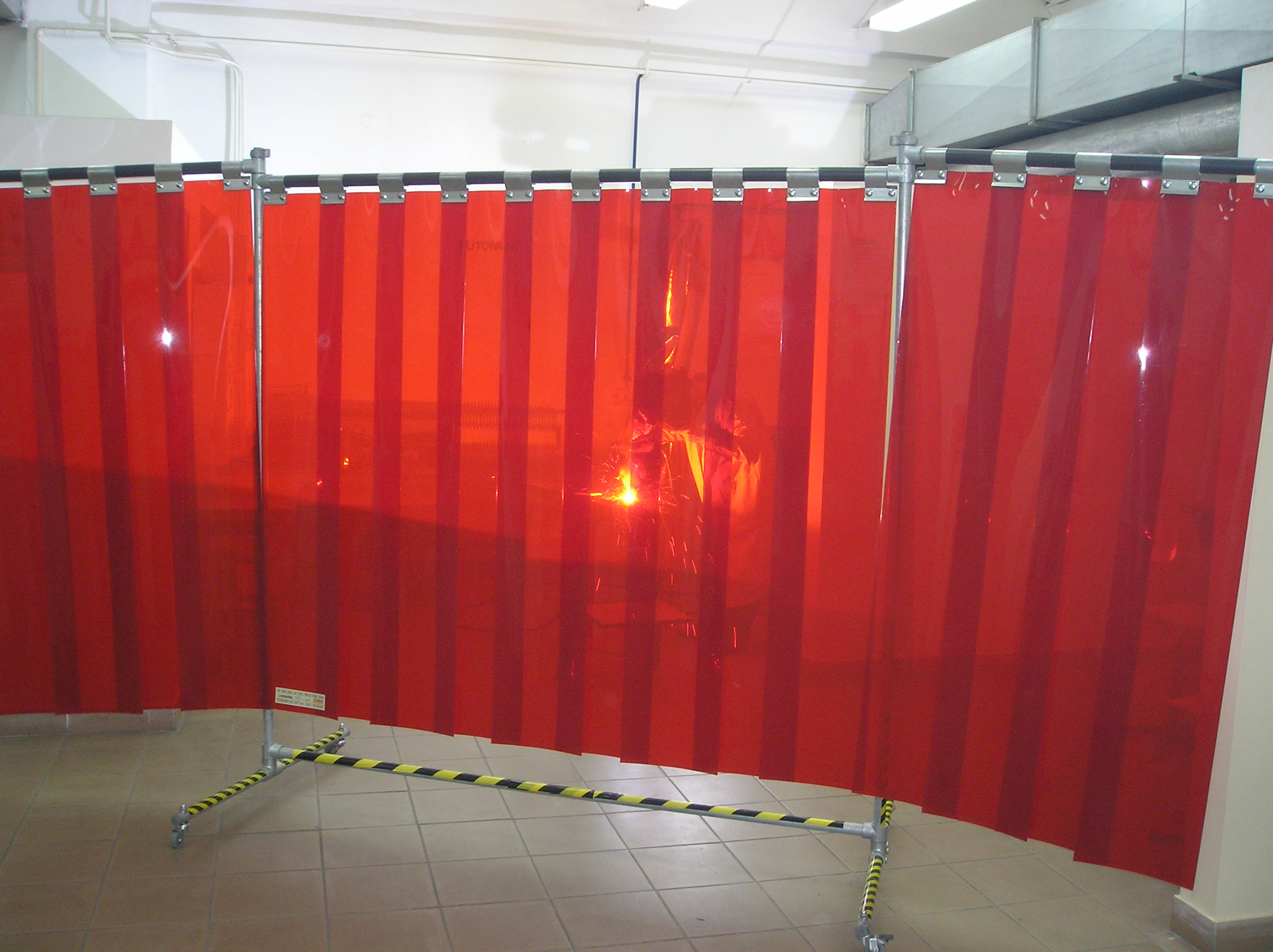 The Semi Transparent Material Can Be A Vision Panel Design Or It Can Be Made As The Entire Curtain As Shown To The Left